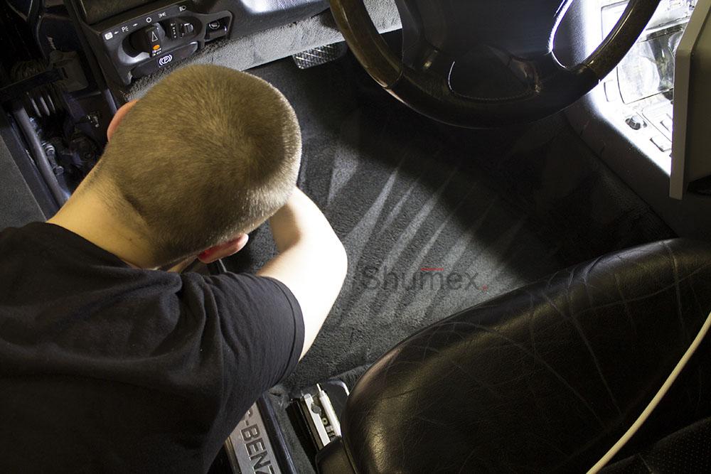 Процесс химчистки Mercedes W140